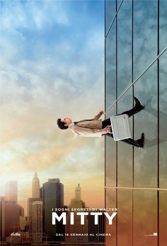 I Sogni Segreti Di Walter Mitty Ben Stiller Scala Un Grattacielo Nel Nuovo Character Poster Italiano 294713