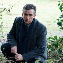 Philomena: Steve Coogan nel ruolo del giornalista d'inchiesta Martin Sixsmith in una scena del film