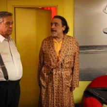 Casa e bottega: Renato Pozzetto e Nino Frassica in un momento della fiction Rai