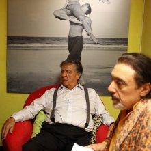 Casa e bottega: Renato Pozzetto e Nino Frassica in una scena della fiction Rai
