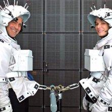 Gravity: Sandra Bullock e George Clooney sul set