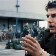 Edge of Tomorrow - Senza domani: Tom Cruise in una scena del film fantascientifico