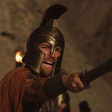 Hercules: La leggenda ha inizio, il protagonista Kellan Lutz in una scena concitata del film