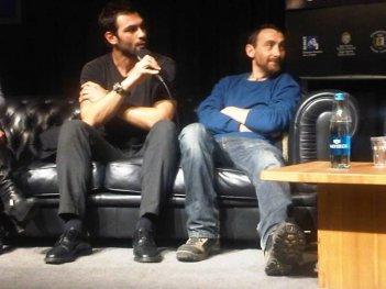 Francesco Arca con Antonio Manetti al Courmayeur Noir in Festival 2013
