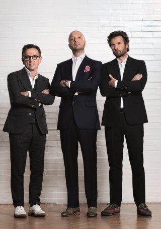 Masterchef 3: Bruno Barbieri, Carlo Cracco e Joe Bastianich in una foto promozionale