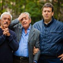 Un posto al sole coi fiocchi: Patrizio Rispo con Marzio Honorato e Germano Bellavia in una scena