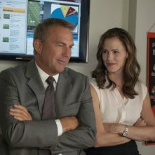 Draft Day: Kevin Costner e Jennifer Garner in una scena