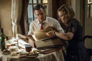 The Monuments Men: Matt Damon e Cate Blanchett in una scena del film
