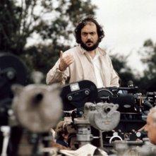 Stanley Kubrick sul set di Barry Lyndon