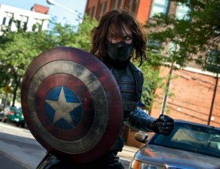Captain America: The Winter Soldier: un primo piano del Soldato d'Inverno, alias, Sebastian Stan