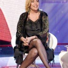 Nadia Cassini oggi, ospite di una trasmissione tv