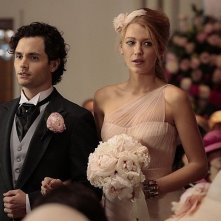 Gossip Girl: enn Badgley e Blake Lively in una scena dell'episodio ew York, I Love You XOXO!