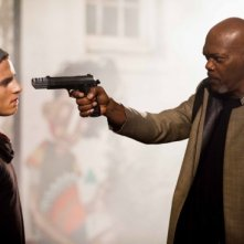 Kite: Samuel L. Jackson minaccia con una pistola Callan McAuliffe