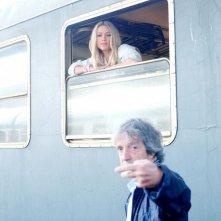 Sapore di te: il regista Carlo Vanzina in una foto dal set con Martina Stella