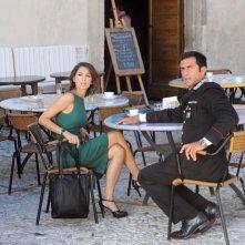 Don Matteo 9: Giorgia Surina e Simone Montedoro in una scena