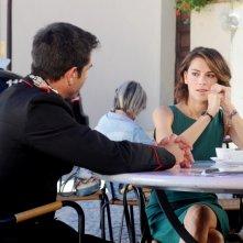 Don Matteo 9: Giorgia Surina e Simone Montedoro in una scena della fiction