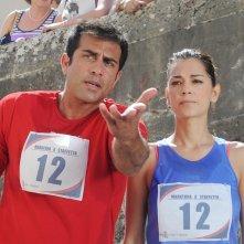 Don Matteo 9: Giorgia Surina e Simone Montedoro in una scena della fiction Rai