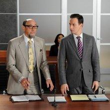 The Good Wife: F. Murray Abraham e Josh Charles in una scena dell'episodio Goliath and David