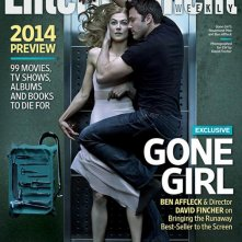 L'amore bugiardo - Gone Girl: Ben Affleck e Rosamund Pike in una foto scatta da David Fincher sulla copertina di Entertainment Weekly