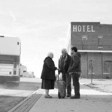 Nebraska: Bruce Dern, Will Forte e June Squibb in una scena del film