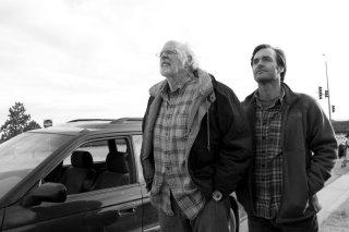 Nebraska: Will Forte e Bruce Dern in un momento del film