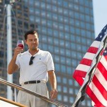 The Wolf of Wall Street: una suggestiva immagine di Leonardo DiCaprio tratta dal film