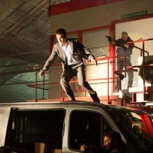 Jack Ryan - L'iniziazione: Chris Pine e Kevin Costner in una scena concitata