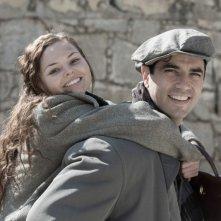 Anita B.: Eline Powell sorride con Antonio Cupo in un momento del film