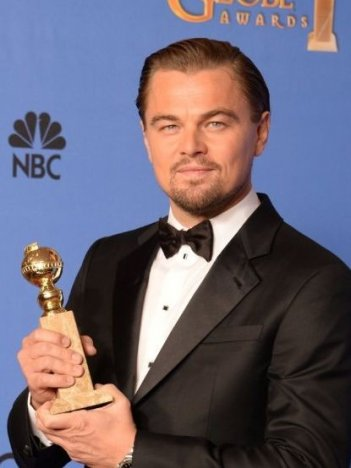 Golden Globe 2014: Leonardo DiCaprio con il premio per The Wolf of Wall Street