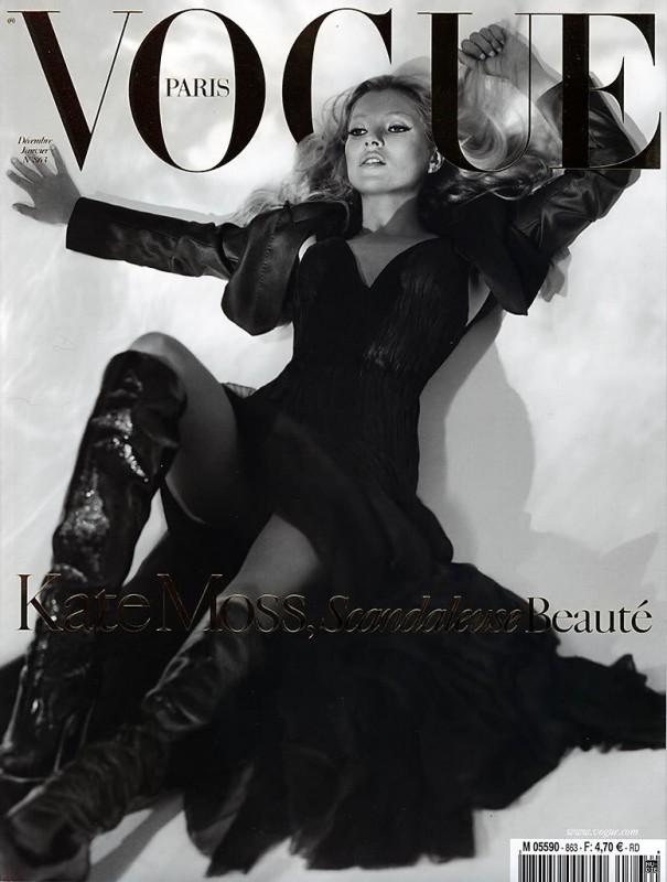 Kate Moss Su Vogue In Bianco E Nero 296525