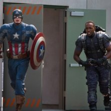 Captain America: The Winter Soldier: Chris Evans e Anthony Mackie in azione