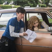 Carrie: Chloe Moretz con la regista Kimberly Peirce sul set