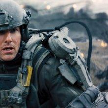 Edge of Tomorrow - Senza domani: un primo piano di Tom Cruise