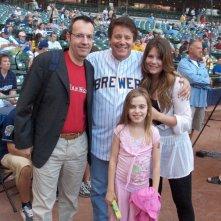 Happy Days: il presidente del fan club, Giuseppe Ganelli, con Anson Williams e le figlie a Milwakee nel 2008