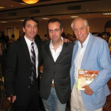 Happy Days: il presidente del fan club, Giuseppe Ganelli, con Garry Marshall al cinquantesimo compleanno di Scott Baio