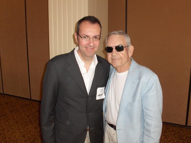 Happy Days Il Presidente Del Fan Club Giuseppe Ganelli Con Tom Bosley A Milwakee Nel 2008 296608