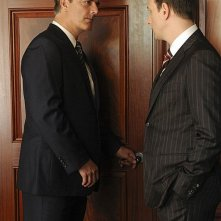 The Good Wife: Josh Charles e Chris Noth in una sequenza dell'episodio We, the Juries