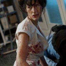 The Nurse 3D: Paz de la Huerta insanguinata in una scena del film