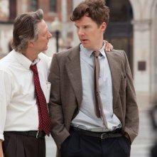 I segreti di Osage County: Chris Cooper con Benedict Cumberbatch in una scena del film