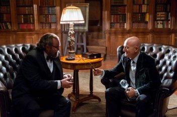 La gente che sta bene: Claudio Bisio con Diego Abatantuono in una scena del film