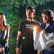 Knight of Badassdom: Summer Glau e Ryan Kwanten in una scena con Steve Zahn