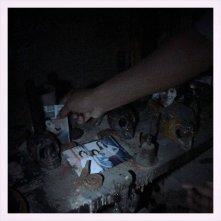 Una scena tratta dal film horror Il segnato