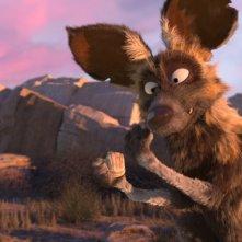 Khumba: il cane selvatico Skalk in una scena del film