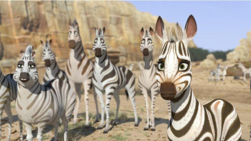 Khumba La Piccola Zebra Khumba Insieme Al Suo Branco In Una Scena Del Film 297284