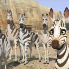Khumba: la piccola zebra Khumba insieme al suo branco in una scena del film