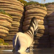 Khumba: la zebra Khumba affronta il deserto in una scena del film