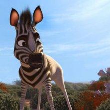 Khumba: la zebra Khumba protagonista della storia in una scena del film
