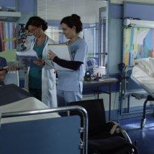 Braccialetti Rossi: Carmine Buschini (Leo), Carlotta Natoli (Dott.ssa Lisandri), Caterina Valente (infermiera Ester) e Brando Pacitto (Vale) nella fiction