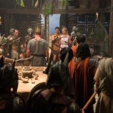 Hercules: La leggenda ha inizio, Gaia Weiss minacciata da Liam Garrigan in una scena