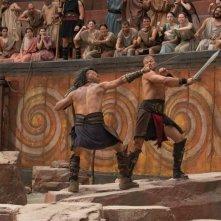 Hercules: La leggenda ha inizio, Kellan Lutz combatte nell'arena in una scena del film